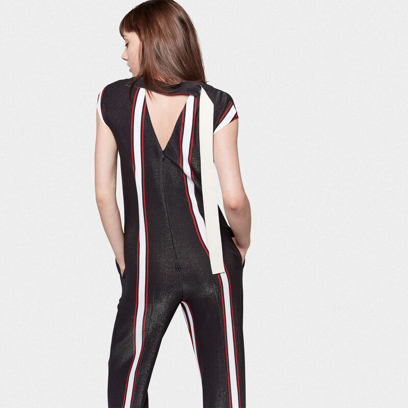 Golden Goose - Narumi jumpsuit with contrasting vertical stripes in  image number null