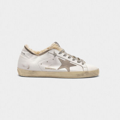 Superstar sneakers with double structure in shearling
