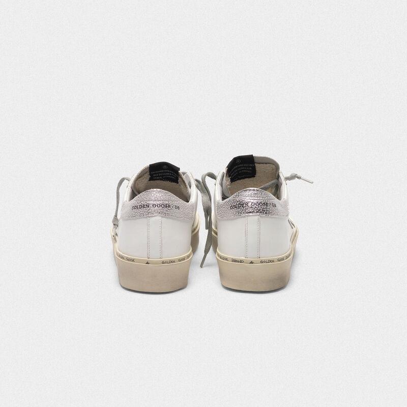 Golden Goose - Zapatillas deportivas Hi-Star con estrella y refuerzo del talón plateado metalizado in  image number null