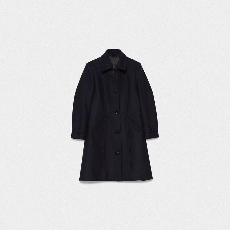 Golden Goose - Cappotto Naomi in lana vergine e nylon in  image number null