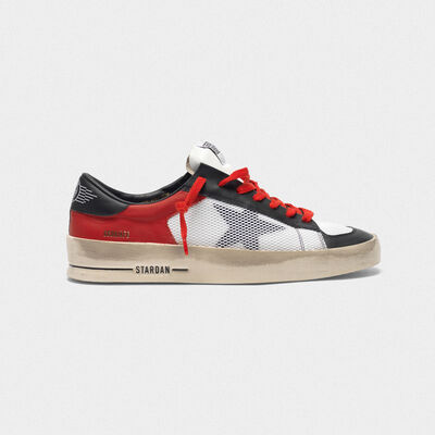 Stardan sneakers in leather with mesh inserts