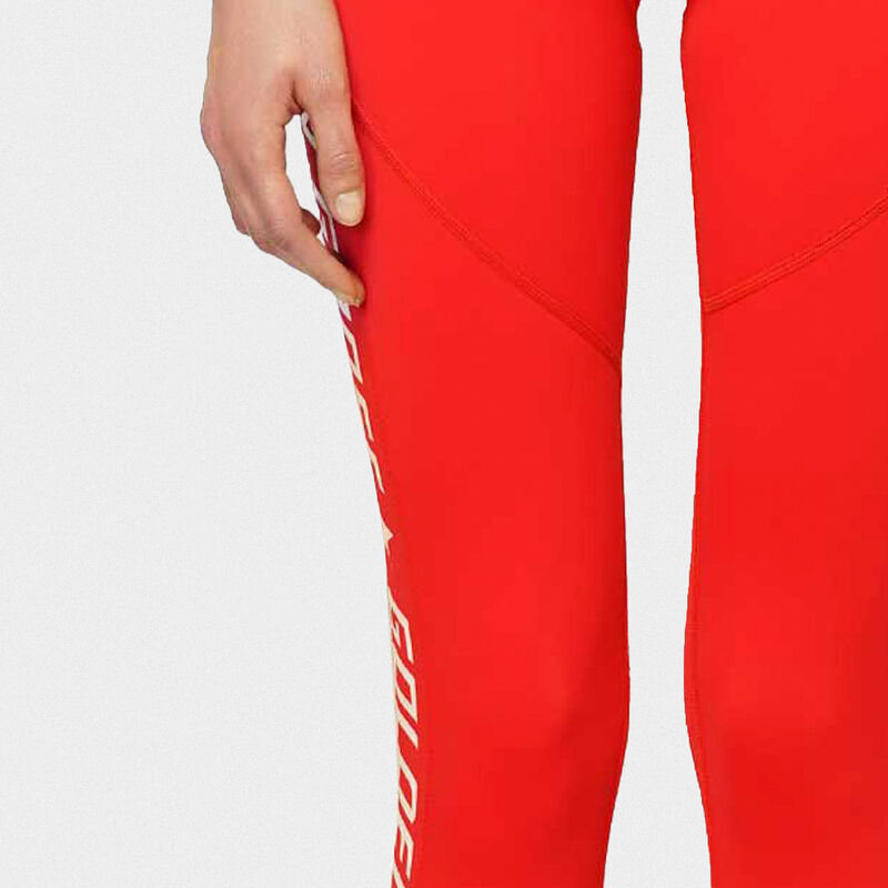 Golden Goose - Red Nori leggings in technical fabric with contrasting logo in  image number null