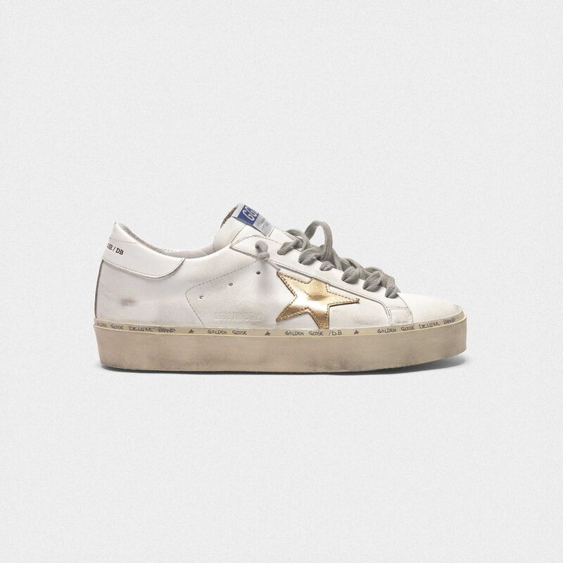 Golden Goose - Sneakers Hi Star in pelle con stella dorata in  image number null