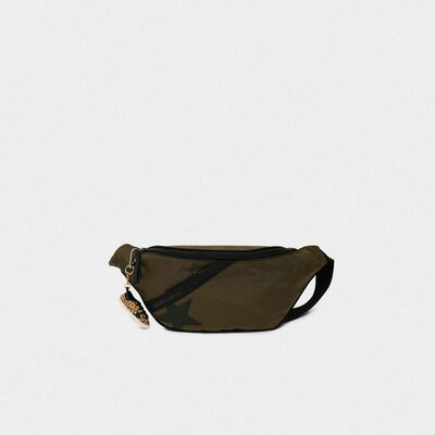 Military green nylon Journey belt bag