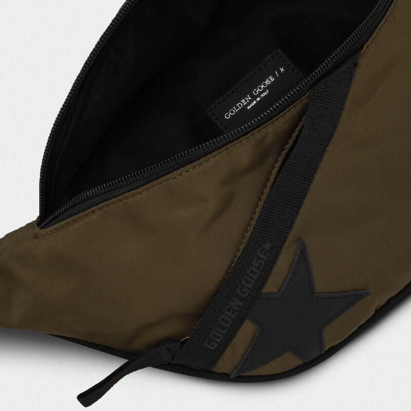 Golden Goose - Military green nylon Journey belt bag in  image number null