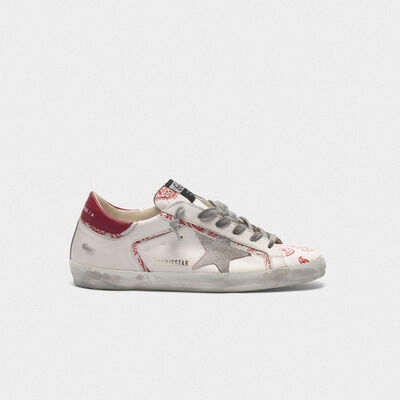 Superstar sneakers with bandana print