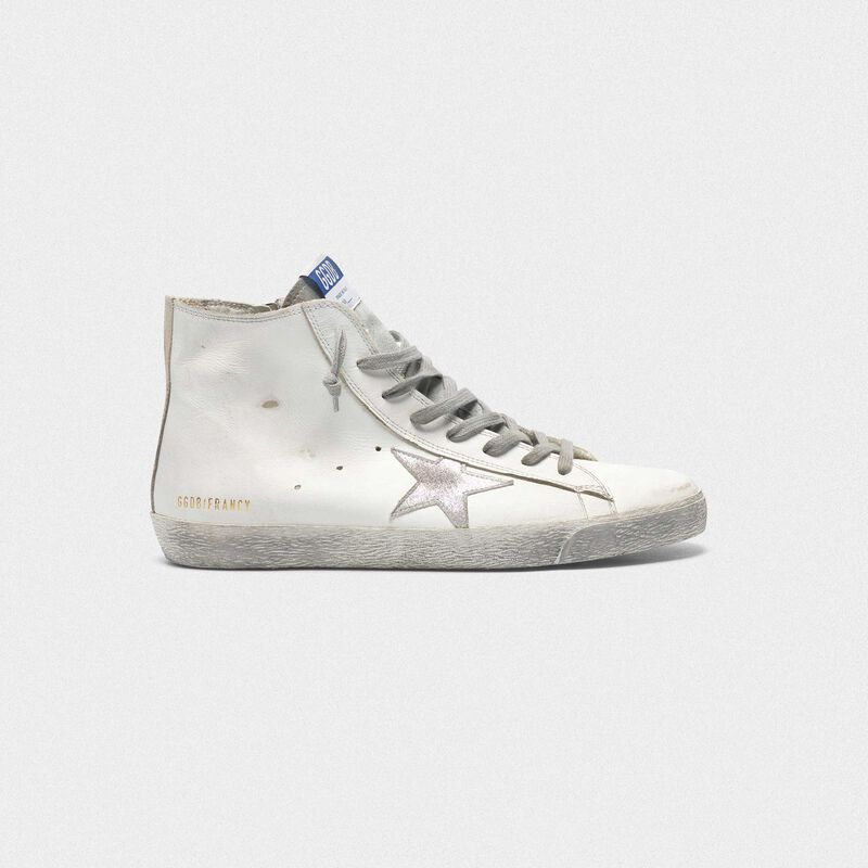 Golden Goose - Francy sneakers in leather with silver suede star in  image number null
