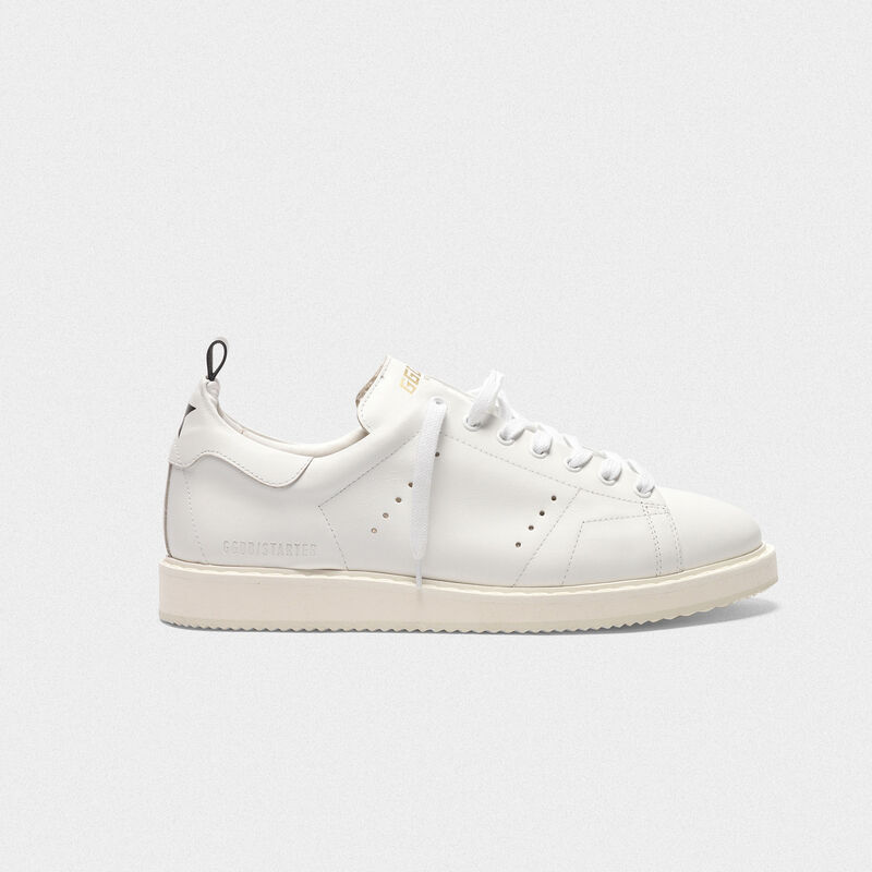 Golden Goose - Sneakers Starter in pelle con stella stampata sul talloncino in  image number null