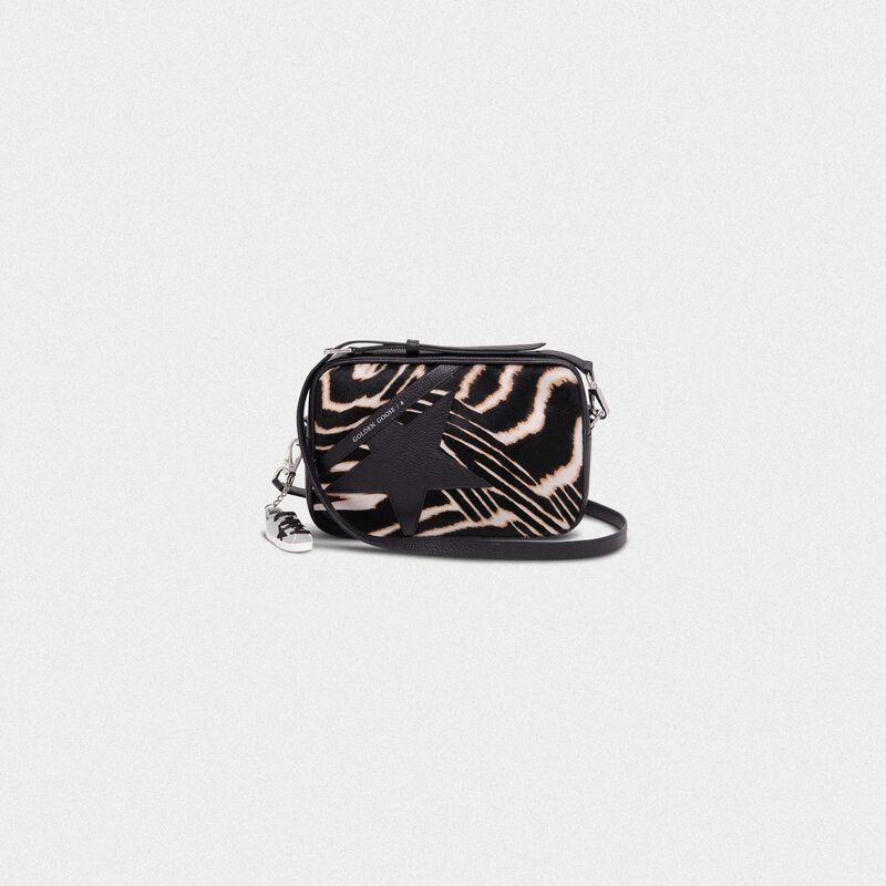 Golden Goose - Borsa Star Bag in cavallino con stampa zebrata in  image number null