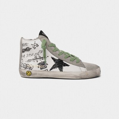 Francy sneakers with tattoo print