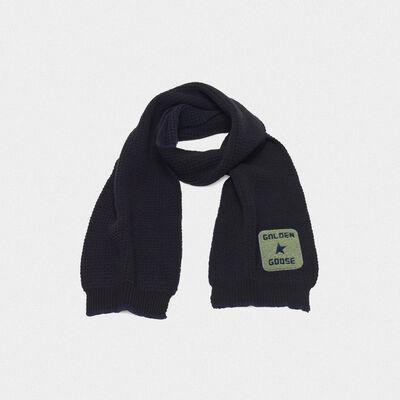 Kei scarf made of extra fine merino wool