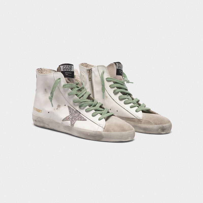 Golden Goose - Francy sneakers in leather with glittery GGDB star in  image number null