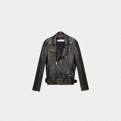 Black Ryan biker jacket with decorative studs