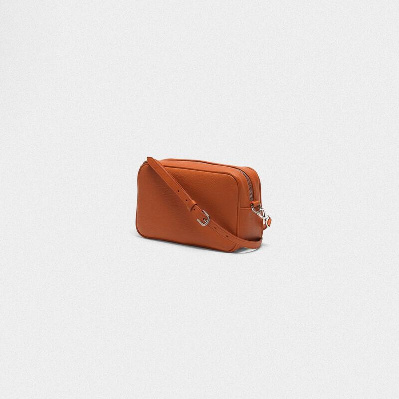 Golden Goose - Orange Star Bag with shoulder strap made of pebbled leather in  image number null