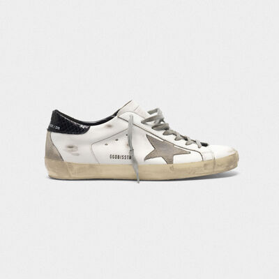 Superstar sneakers with suede star and croc-print heel tab