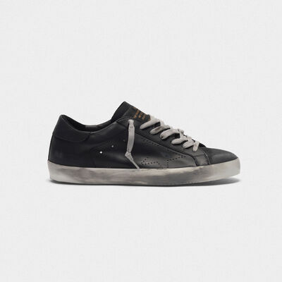 Sneakers Superstar in pelle con stella traforata