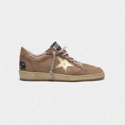 Ball Star sneakers in nubuck with laminated star