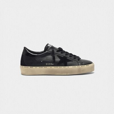Hi-Star sneakers in leather with studded GGDB lettering
