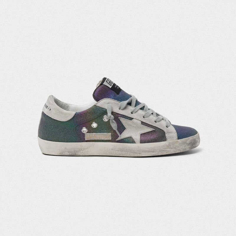 Golden Goose - Sneakers Superstar con glitter arcobaleno in  image number null