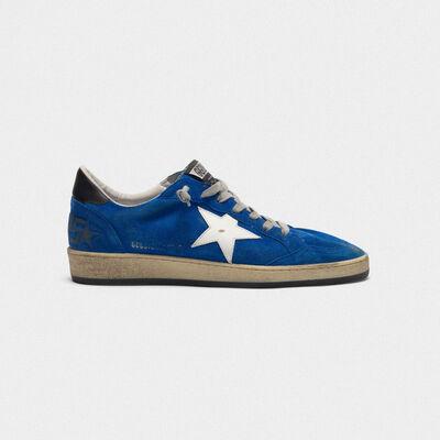 Sneakers Ball Star in camoscio con stella e talloncino in pelle