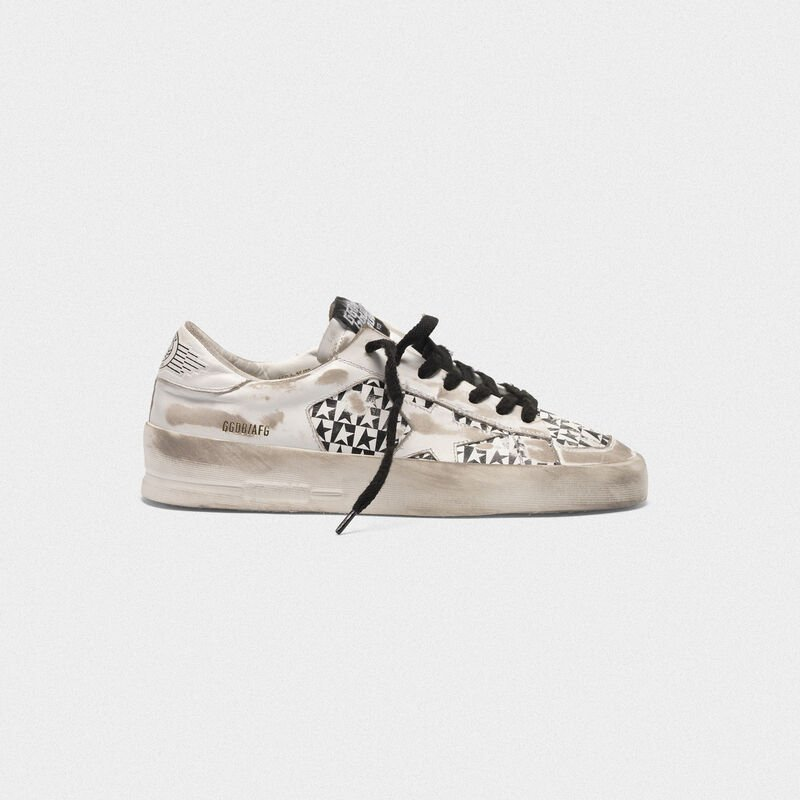 Golden Goose - Sneakers Stardan LTD con stampa stelle a scacchi in  image number null