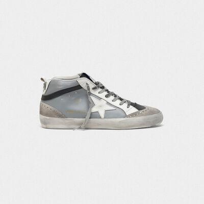 Sneakers Mid-Star con stella in pelle