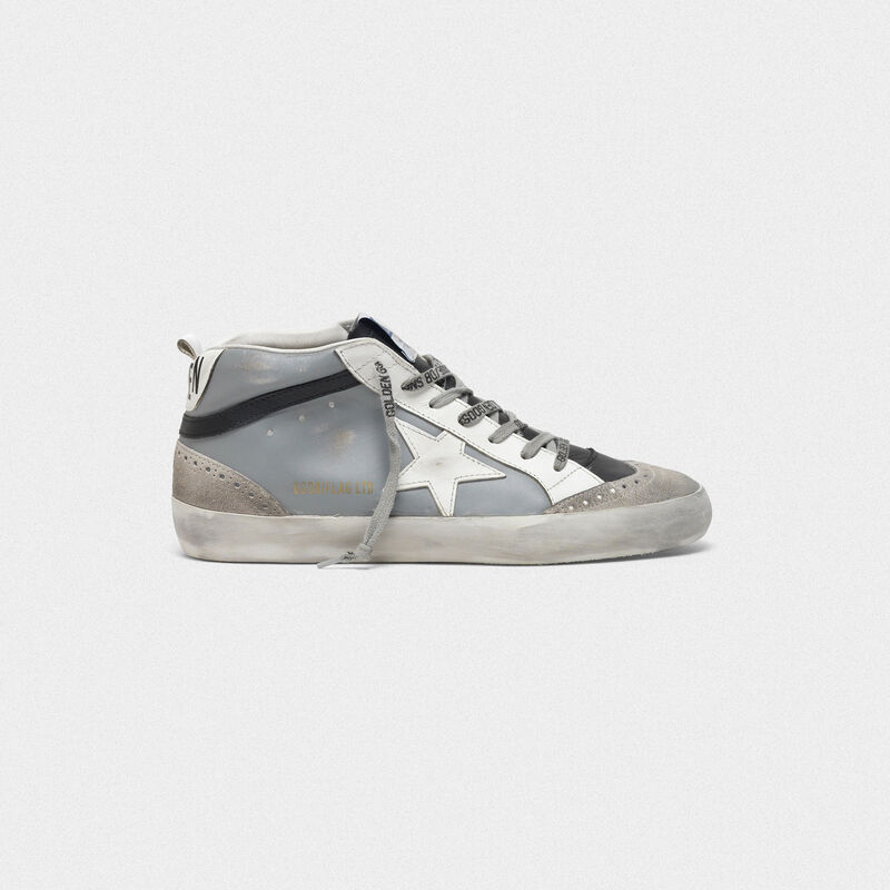 Golden Goose - Mid Star sneakers with star in leather in  image number null