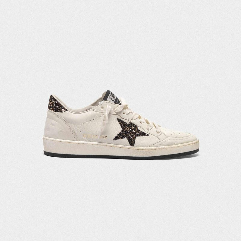 Golden Goose - Ball Star sneakers with GGDB star and glittery heel tab in  image number null