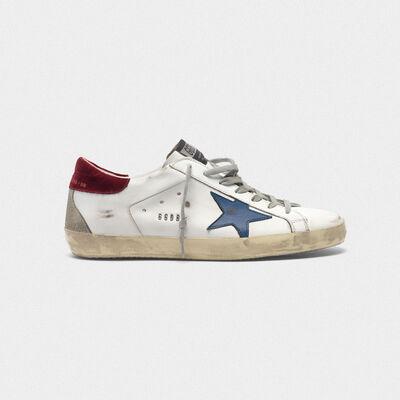 Superstar sneakers with velvet heel tab and metal stud lettering