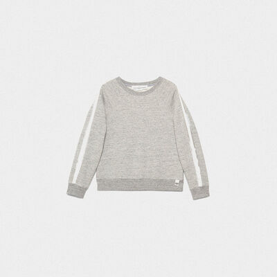 Haruko sweatshirt in pure cotton with contrasting inserts
