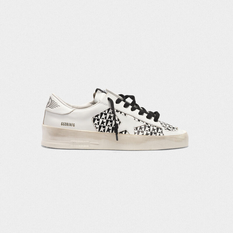 Golden Goose - Sneakers Stardan con stampa stelle a scacchi in  image number null