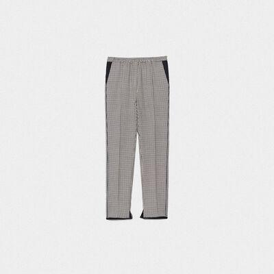 Pantaloni Minori a quadri con vita elastica