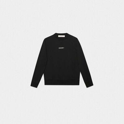 Black Golden sweatshirt with flag print on the back
