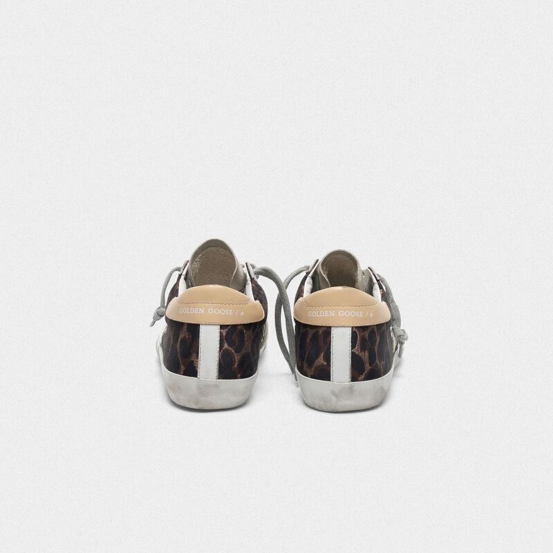 Golden Goose - Sneakers Superstar leopardate con stella in suede in  image number null