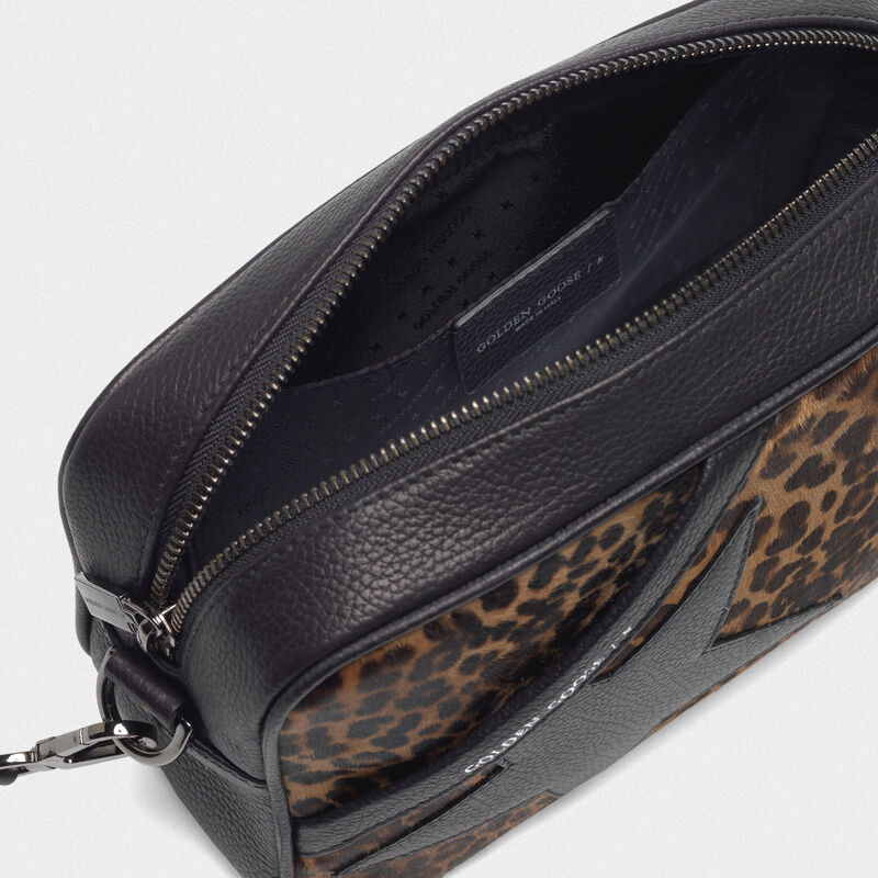 Golden Goose - Star Bag made of leopard print pony skin in  image number null