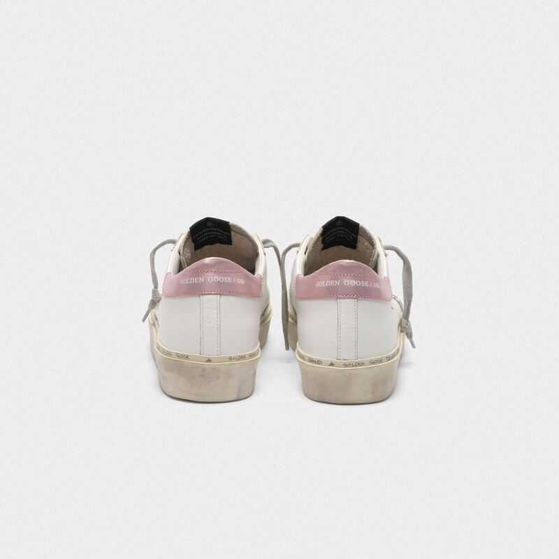 Golden Goose - Sneakers Hi Star con stella in glitter e talloncino laminato in  image number null