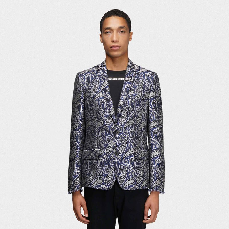 Golden Goose - Giacca Milano monopetto motivo paisley jacquard in  image number null