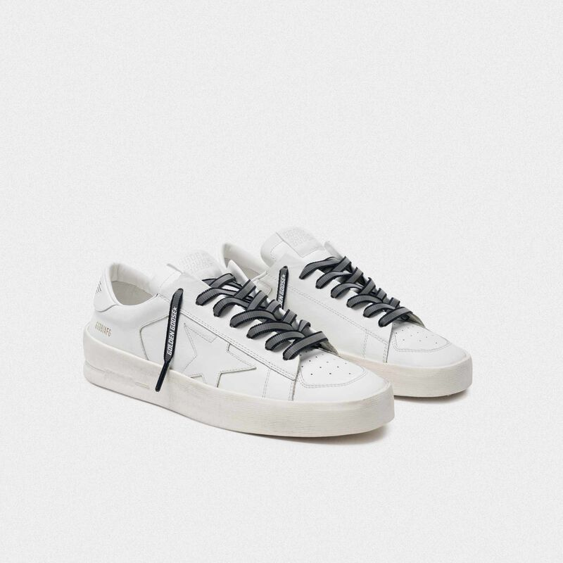 Golden Goose - Women's blue reflective laces with logo in  image number null