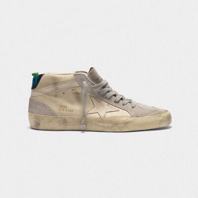 Sneakers Mid-Star in pelle con dettagli in camoscio