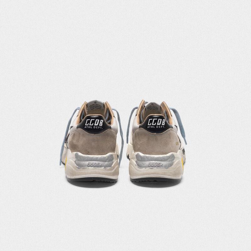 Golden Goose - Sneakers Running laminate, inserto in nabuk e stella glitter in  image number null