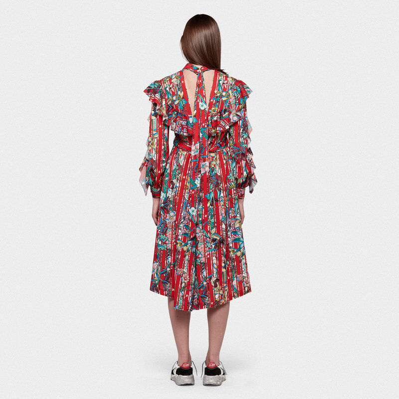 Golden Goose - Chieko dress in floral fabric with ruffles in  image number null