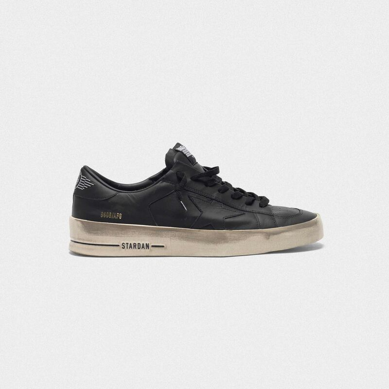 Golden Goose - Stardan sneakers in total black leather with vintage finish in  image number null