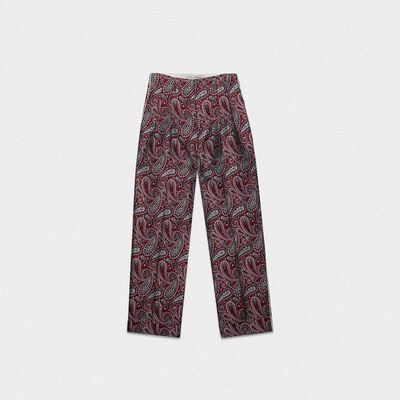 Pantaloni Sally motivo jacquard paisley
