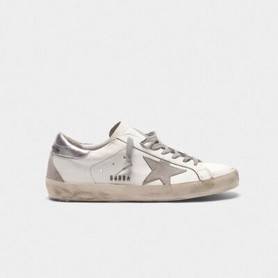 Sneakers Superstar con talloncino laminato
