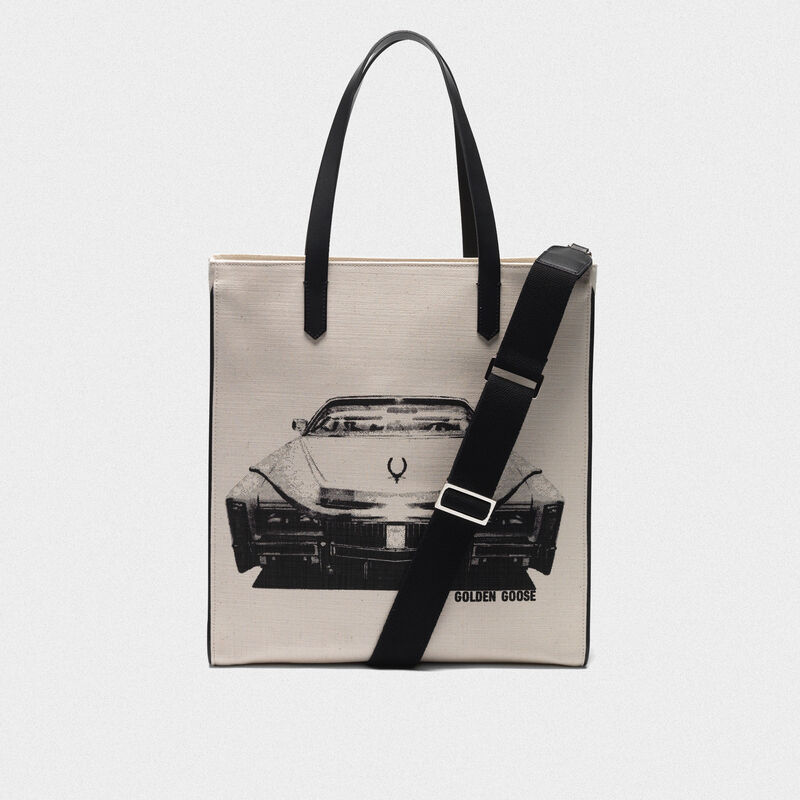 Golden Goose - Borsa California North-South stampa Cadillac in  image number null