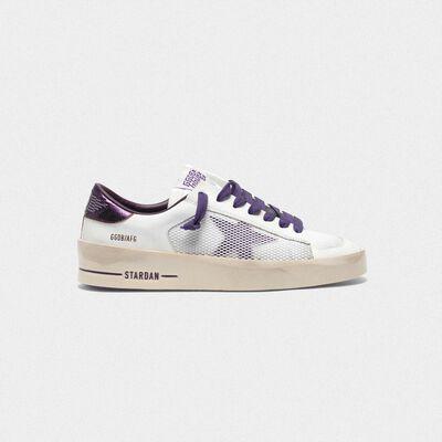 Stardan sneakers with star and heel tab in metallic purple