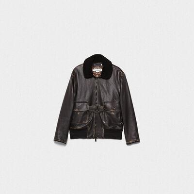 Erika bomber jacket in vintage-look nappa leather