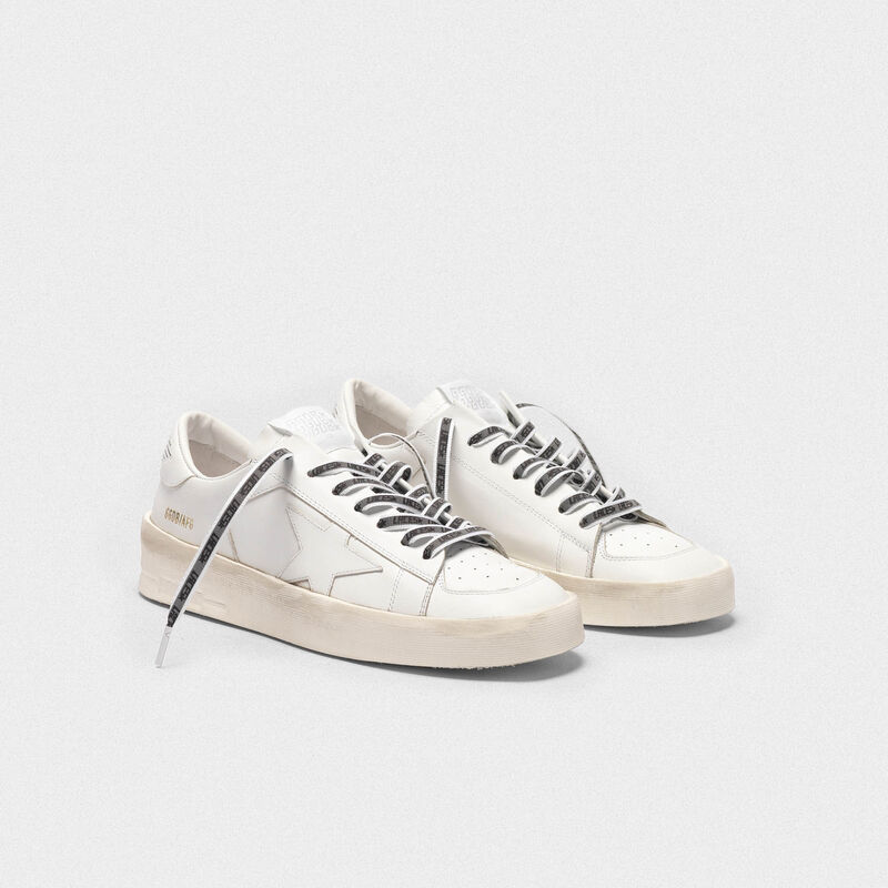 "Golden Goose - Grosgrain laces with reflective band and ""Laces"" print in  image number null"