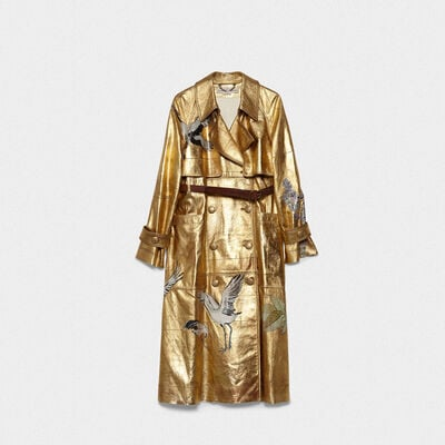 Trench Masami in pelle con stampe
