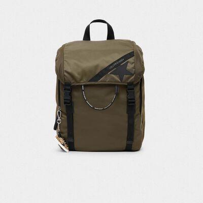 Olive-green nylon Journey backpack
